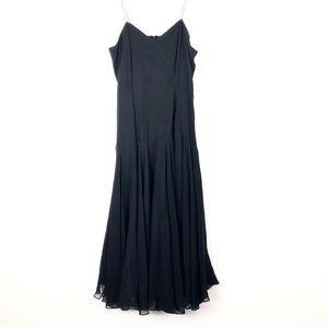 Vintage A.J. Bari Dress Silk Midi Flowy Spaghetti